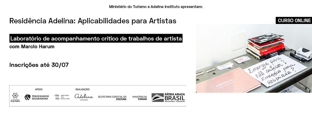 CURSO ONLINE | Laboratório de acompanhamento crítico de trabalhos de artista com Marcio Harum