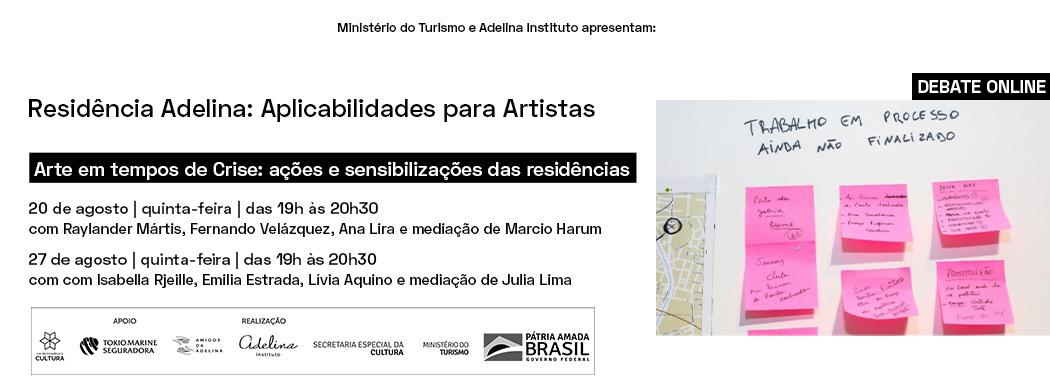 Debate online | Arte em tempos de Crise: ações e sensibilizações das residências