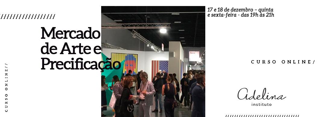 """""""Mercado de Arte e Precificação"""" busca ensinar os conceitos básicos para compreender os processos de mercantilização da arte, práticas do mercado, entendimento do sistema e maneiras para precificação de obras de arte."""